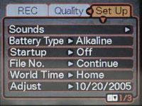 Casio EX-Z120 Setup Menu