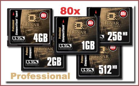 Lexar 80x Pro CF Cards