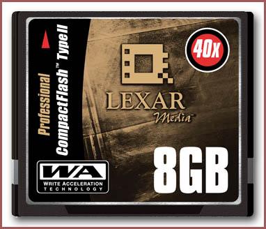 Lexar 8GB Professional Series CompactFlash