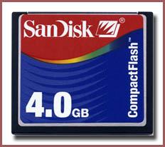 SanDisk 4GB CF Card