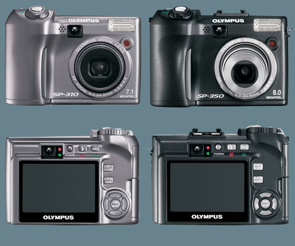 Olympus Announce SP-310 and SP-350 With 2.5-inch LCD and 30 Shooting Modes