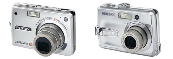 Pentax Optio 8MP A10 and 6MP E10
