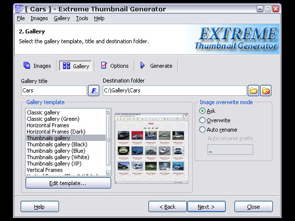 Extreme Internet Software's Extreme Thumbnail Generator 1.7