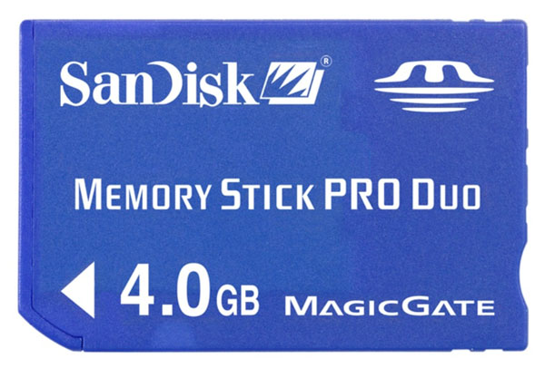 SanDisk 4GB Memory Stick Pro Duo