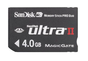 SanDisk 4GB Ultra II Memory Stick Pro Duo
