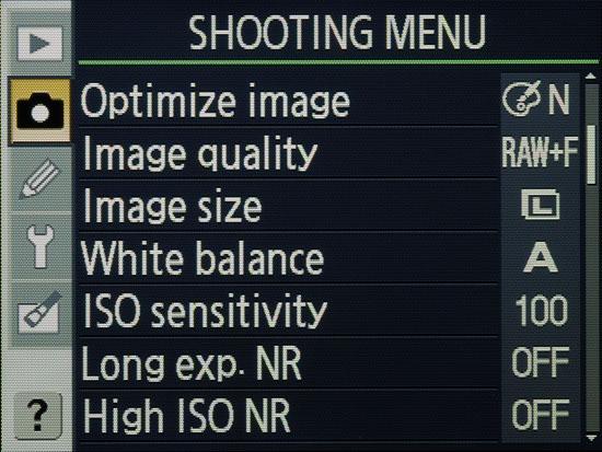 Nikon D80 - LCD Monitor