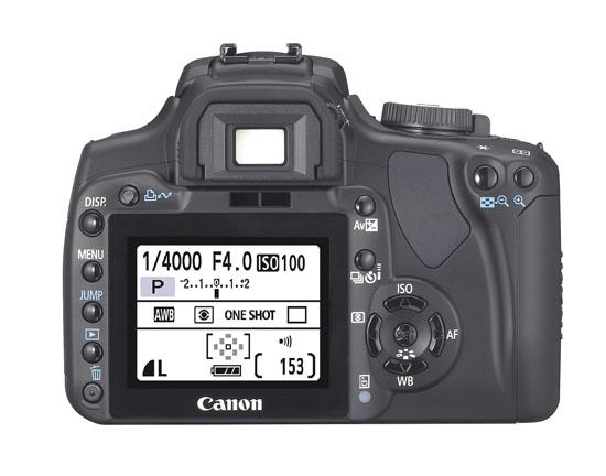 Canon Rebel XTi (400D) - Back