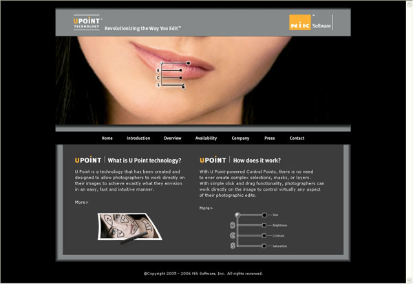 Nik Software, Inc. Announces Launch of New U Point Technology Website