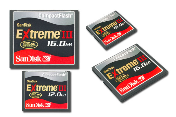 SanDisk Introduces 12GB & 16GB Extreme III CompactFlash Card (and Extreme USB2.0 Reader)