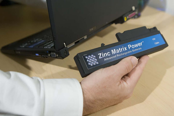 Zinc Matrix Power Notebook Battery Based On Zinc, Silver, and Water