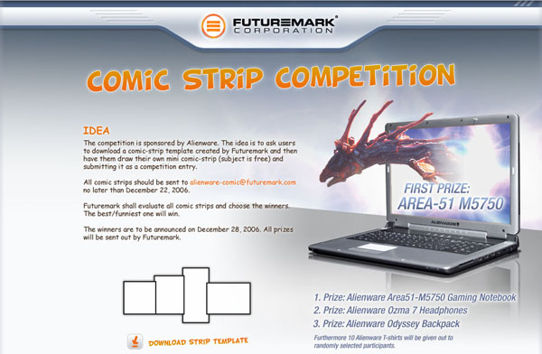 Futuremark And Alienware Announce Comic Strip Competition