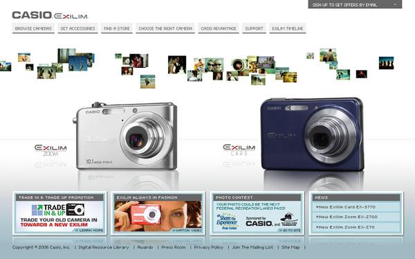 Casio's Exilim Website