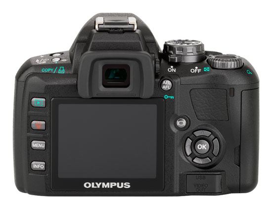 Olympus E-410 10MP DSLR - Back View