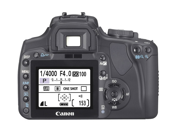 Canon 40D - Back View