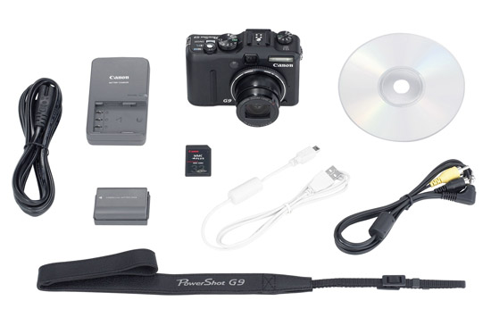 Canon PowerShot G9 Included Accessory Kit