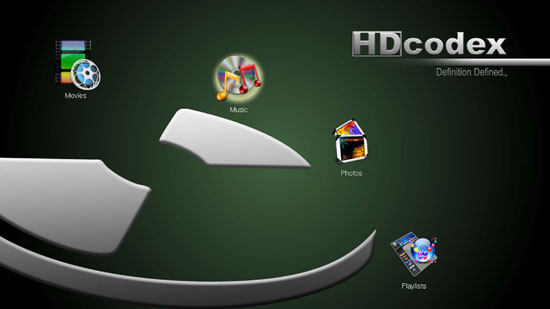 HDcodex Screen Interface