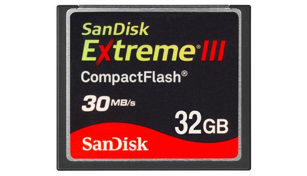 SanDisk Extreme III 32GB CF Card