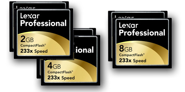 Lexar 233x Professional Memory Cards