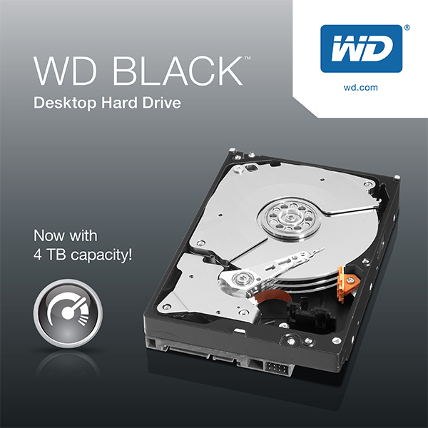 Western Digital 4TB 3.5-inch HDD