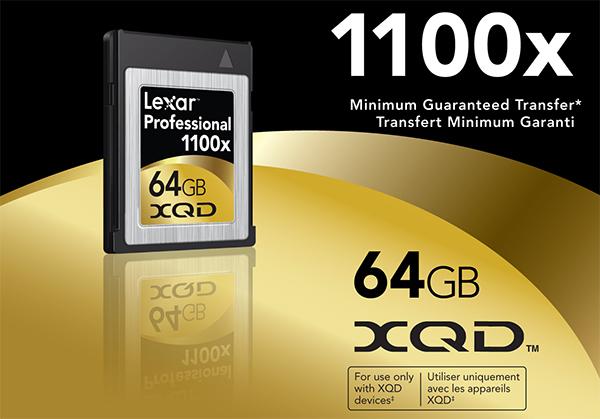 Lexar 1100x XQD Card