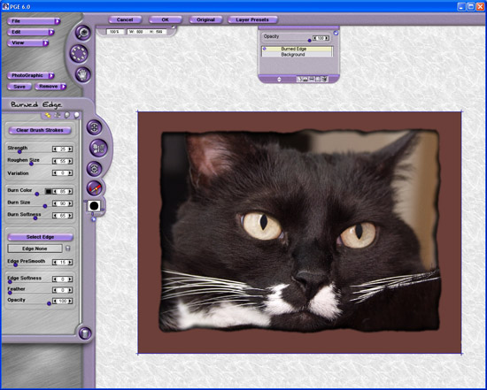 Photo/Graphic Edges 6.0 User Interface