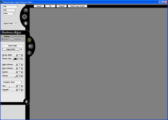 Photo/Graphic Edges 7.0 Platinum User Interface