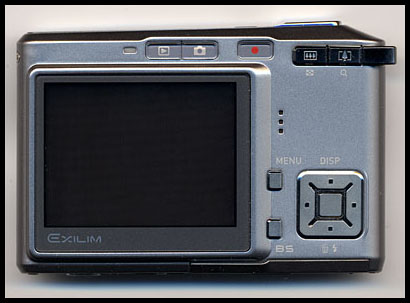 Casio Exilim Card EX-S500 Back