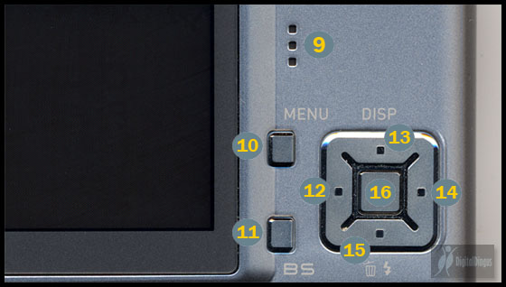 Casio Exilim Card EX-S500 Bottom Control Cluster