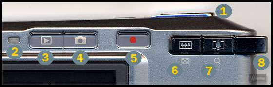 Casio Exilim Card EX-S500 Top Control Cluster