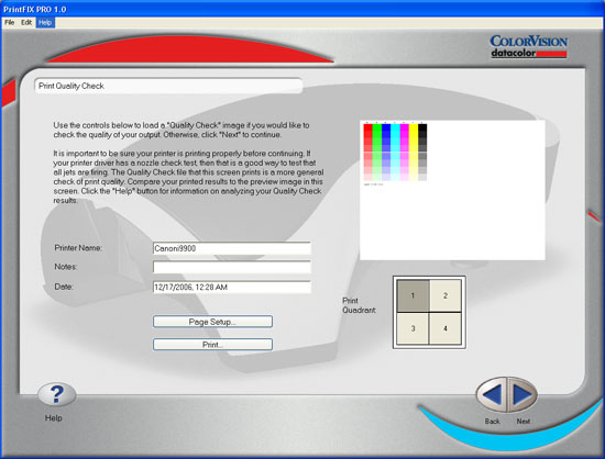Spyder2PRO PrintFIX PLUS - Print Quality Check