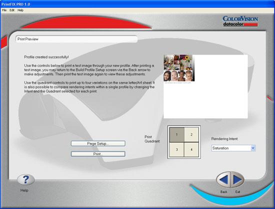 Spyder2PRO PrintFIX PLUS - Profile Created Successfully!