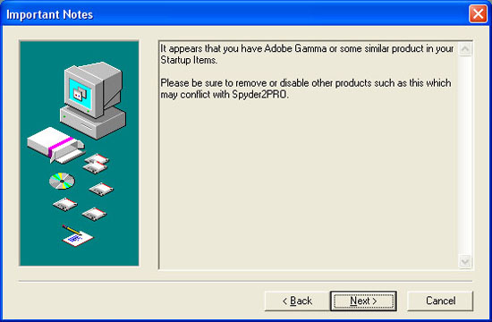 Spyder2Pro Senses Adobe Gamma