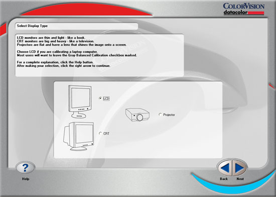 Spyder2PRO - Selecting Target Hardware