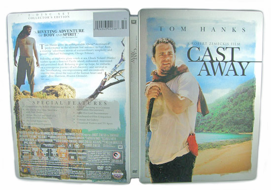Cast Away (Steelbook) - Front and Back