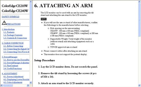 Eizo ColorEdge CE240W User Manual