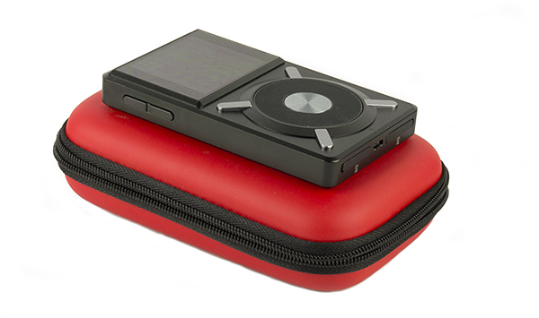 The FiiO X5 on the HS7 Carrying Case