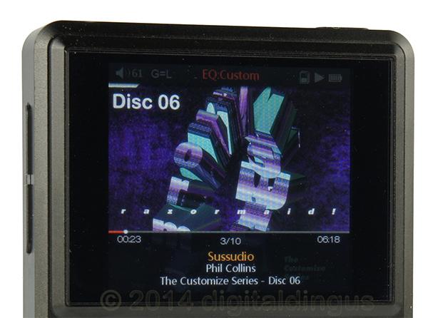 400x360 Display of the FiiO X5 DAP