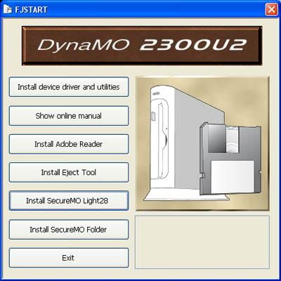 Fujitsu DynaMO 2300U2 Startup CD
