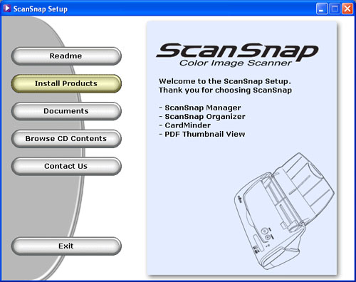 Fujitsu fi-5110EOX2 ScanSnap Setup CD-ROM
