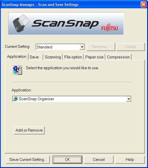 Fujitsu ScanSnap Manager (Frist Tab)