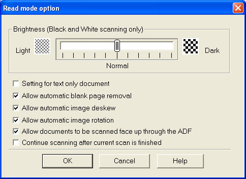Fujitsu ScanSnap Manager (Third Tab / Option Button)