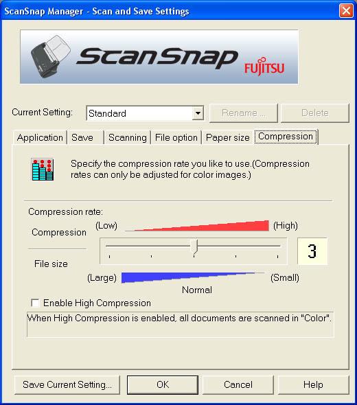Fujitsu ScanSnap Manager (Sixth Tab)