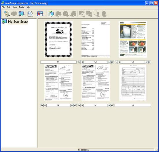 Fujitsu ScanSnap Organizer Version 1.0