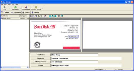 Fujitsu S500 ScanSnap Manager Cardminder v3.0