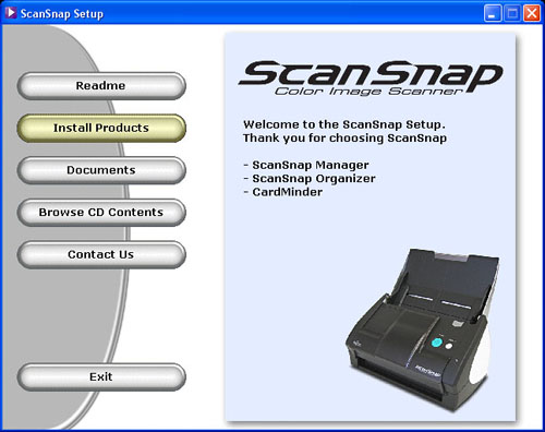 Fujitsu ScanSnap S500 Setup CD-ROM