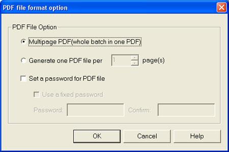 Fujitsu S500 ScanSnap Manager (Third Tab / Option Button)