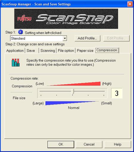 Fujitsu S500 ScanSnap Manager (Sixth Tab)