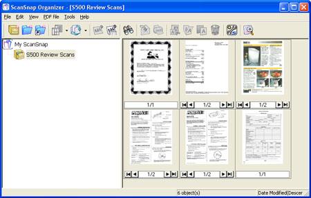 Fujitsu S500 ScanSnap Organizer Version 3.0