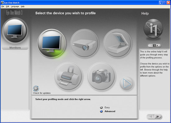 GretagMacbeth EyeOne Display 2 - Choosing Your Device