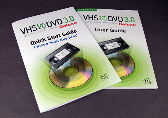 Honestech VHS to DVD 3.0 - Quick Start Guide & User Guide